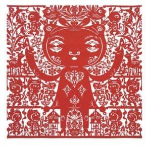 吳耿禎《夢的剖面王國紅絹布》