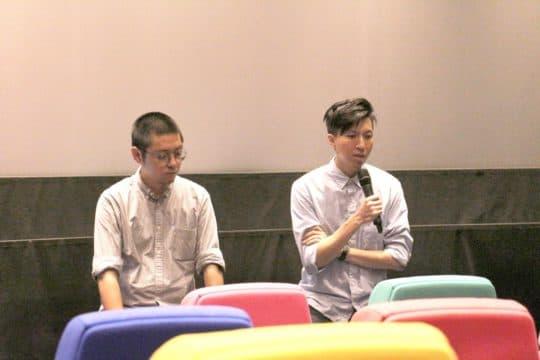 導演黃肇邦(右)和監製卓翔。