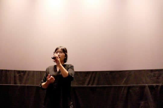 影展開幕放映後,導演黃惠偵與觀眾對談。(攝影: Ngan Wa Ao)