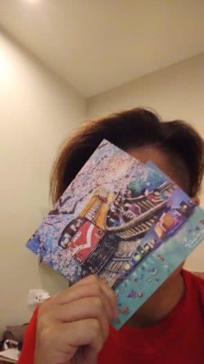 在台北時準備寄出的明信片