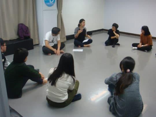 曾靖雯擔任導師主持「『對話式教育』教師戲劇工作坊」。
