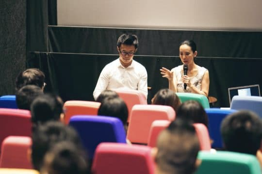 國際紀錄片電影節邀請了日本女導演河瀨直美(Naomi Kawase),出席了七月二十三日的講座《河瀨直美:記憶之森林—生死與身體的風景》,以及一場映後分享會。(攝影:Akimoto Chan)