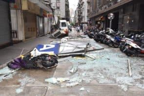 「天鴿」過後,城市遭大面積破壞。