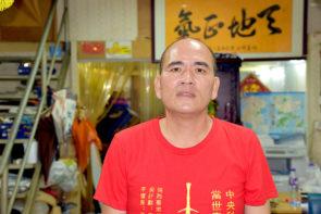 澳門公義第1候選人李少坤 。