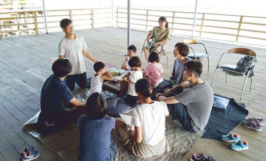 聯繫起關心海洋的不同青年走讀對話。©井井三一繪本書屋
