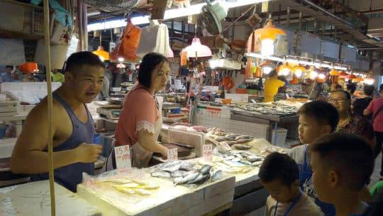 綠色未來的青年夥伴帶領大家前往下環街市場走讀《魚市場》。©井井三一繪本書屋
