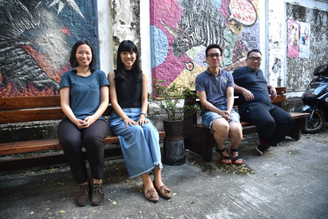 牛房倉庫四個主要員工,左起:阿欣、Pauline、Oscar和山蕉。