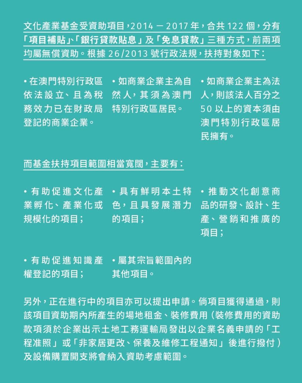 文化產業基金受資助項目。