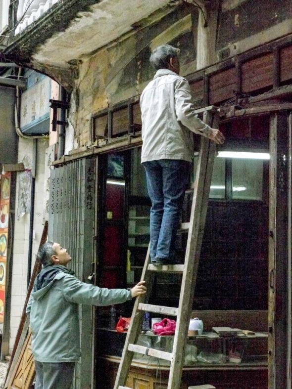 百年中藥店杏和堂結業時,呂澤強亦有前去了解。