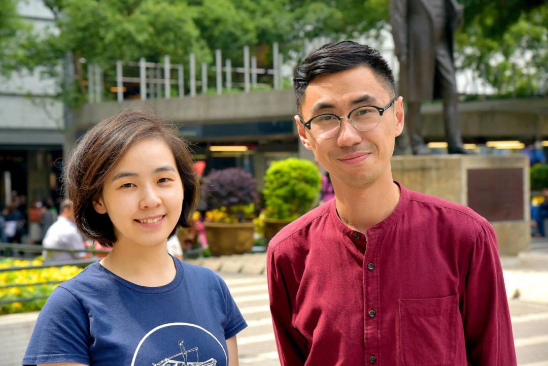 「程尋香港」始創成員Tiffany (左) George (右)