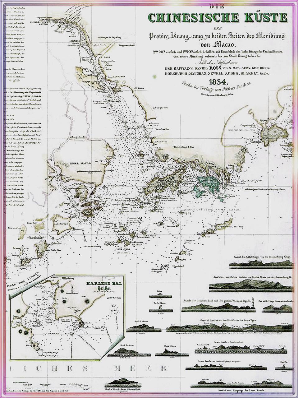 1834年珠三角地圖。