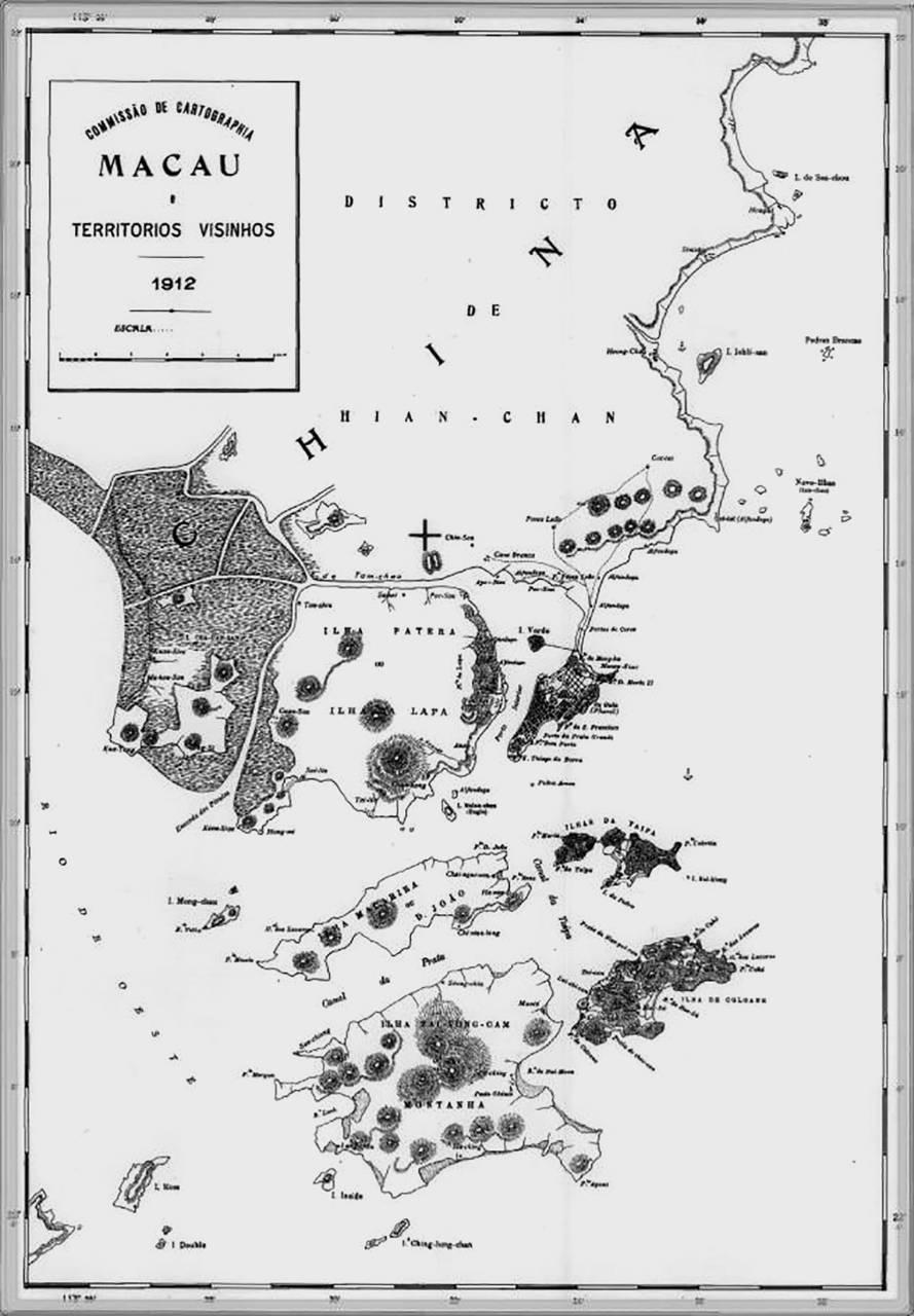 1912年澳門地圖。