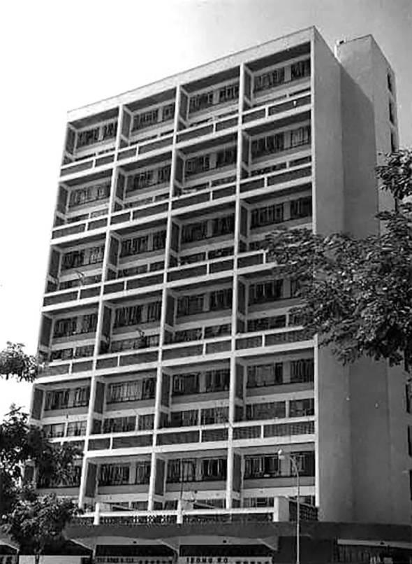 莉娜大廈昔日外觀。