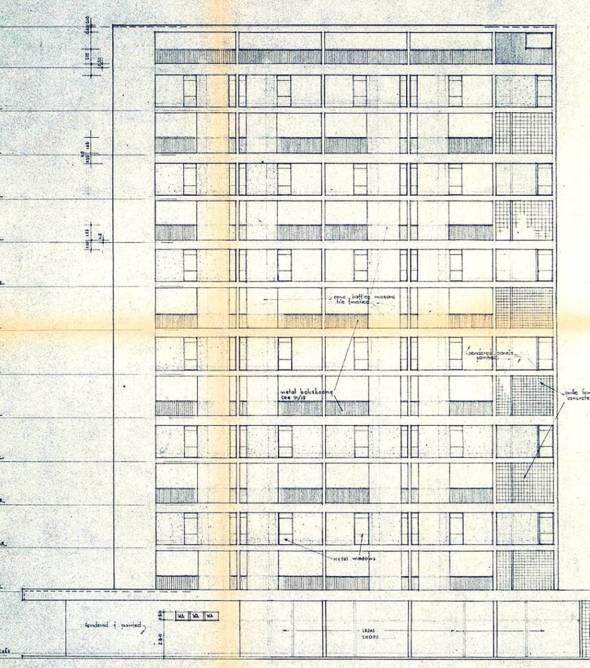 莉娜大廈設計圖紙。