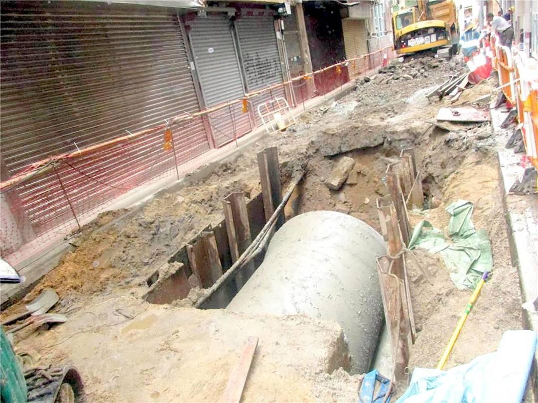 亞美打利庇盧大馬路與海邊新街交界建造沙井工程(圖片:民署)