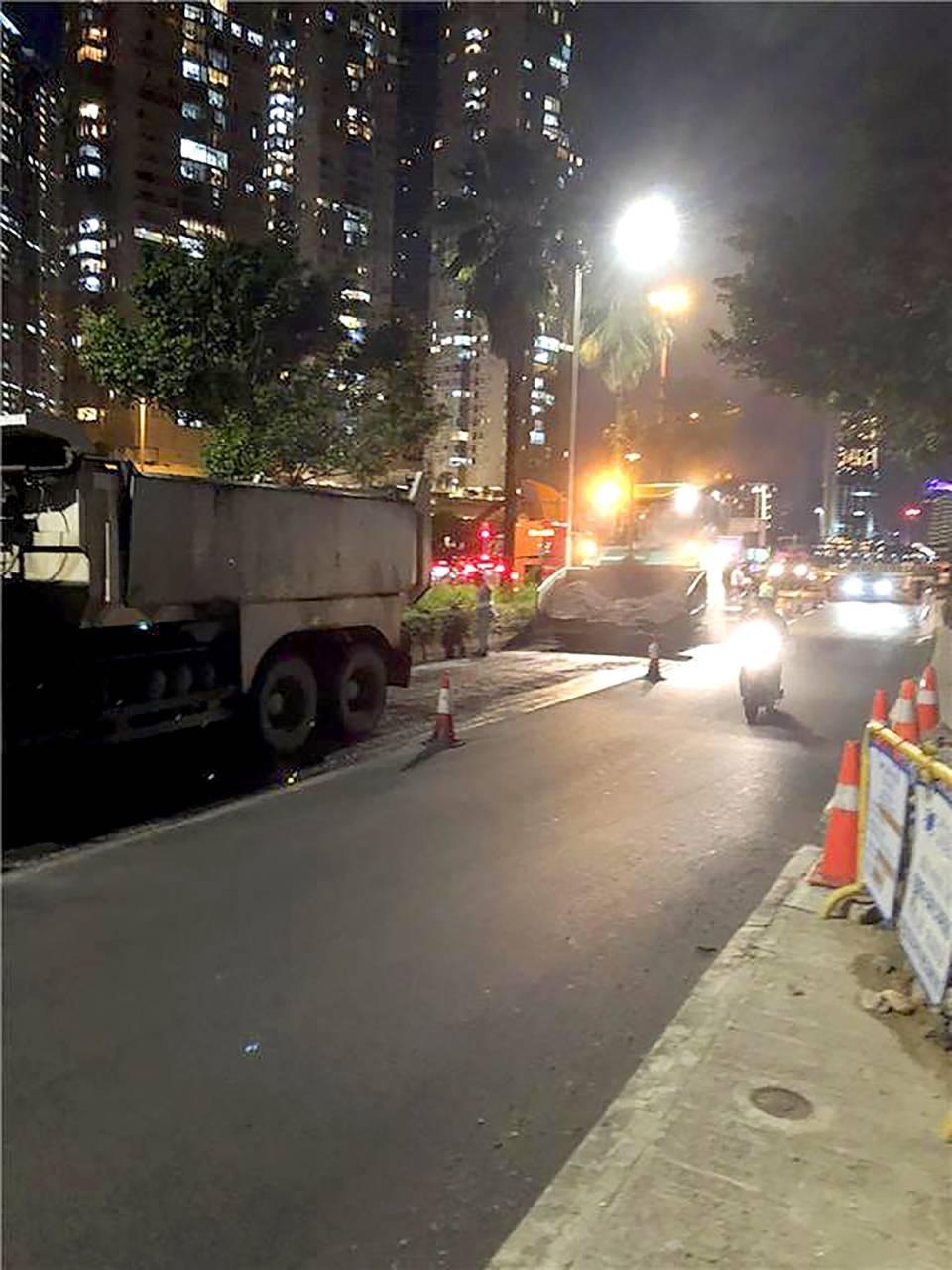 友誼橋大馬路及馬場北大馬路重鋪瀝青路面工程(圖片:民署)