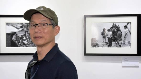 漢哥於1980年入行,是澳門前輩級的攝影記者。