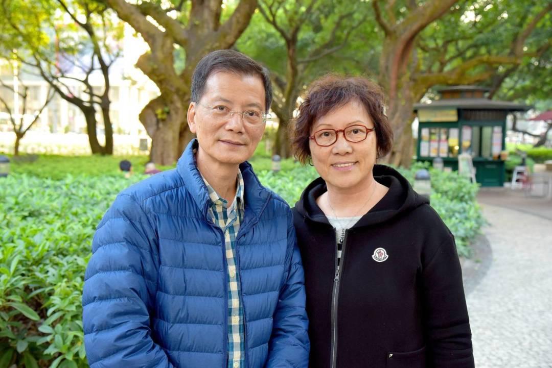 黎鴻健和太太潘楚瑩。