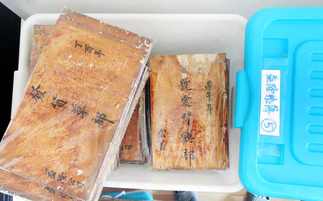 留待研究的益隆炮竹廠帳簿。