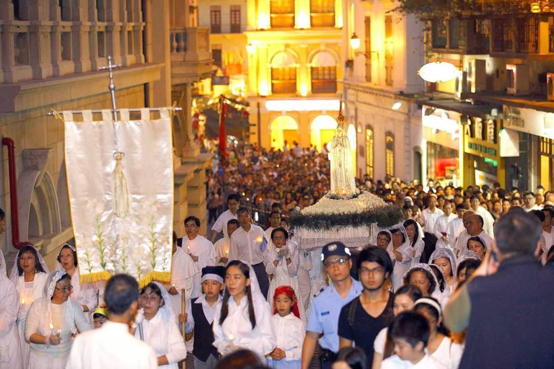 花地瑪聖母聖像出遊。