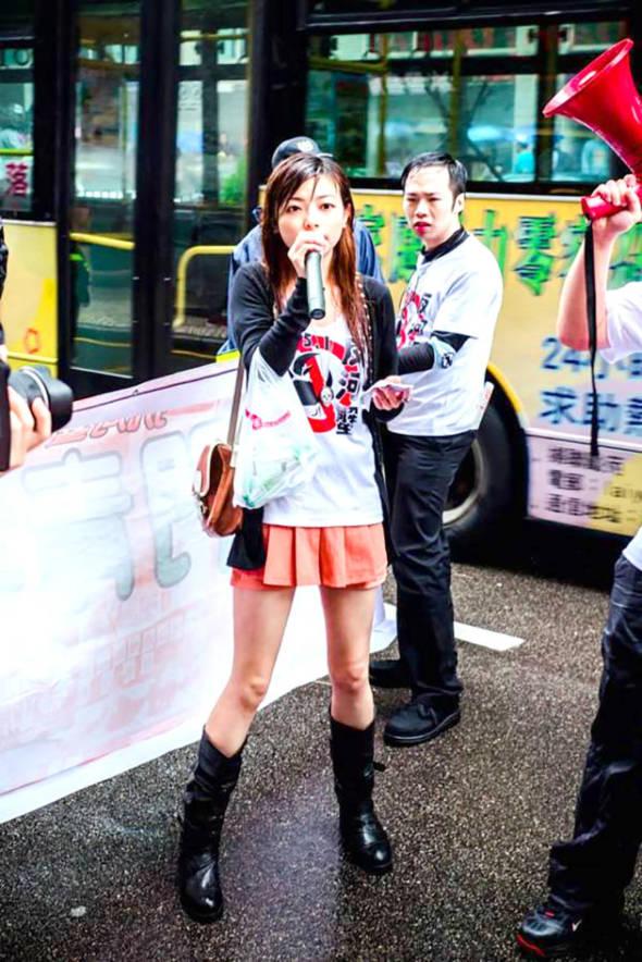 甘雪玲2013年遊行時被封「社運女神」。