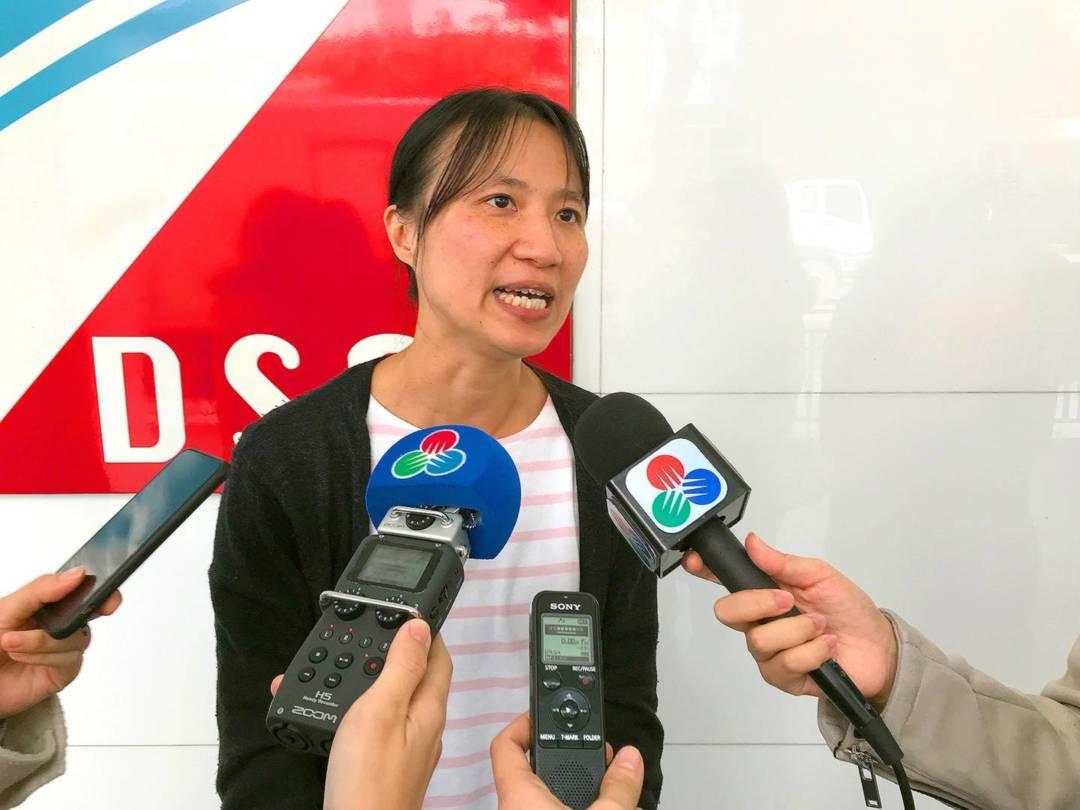 國際家務工聯會亞洲區域幹事葉沛渝。