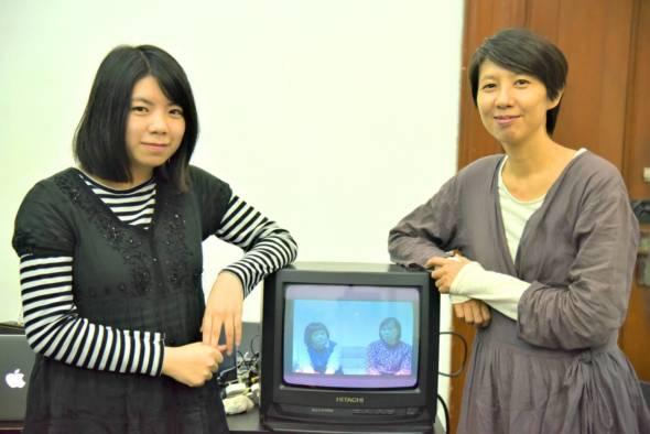 導演李銳俊(右)及錄像創作李卓媚。