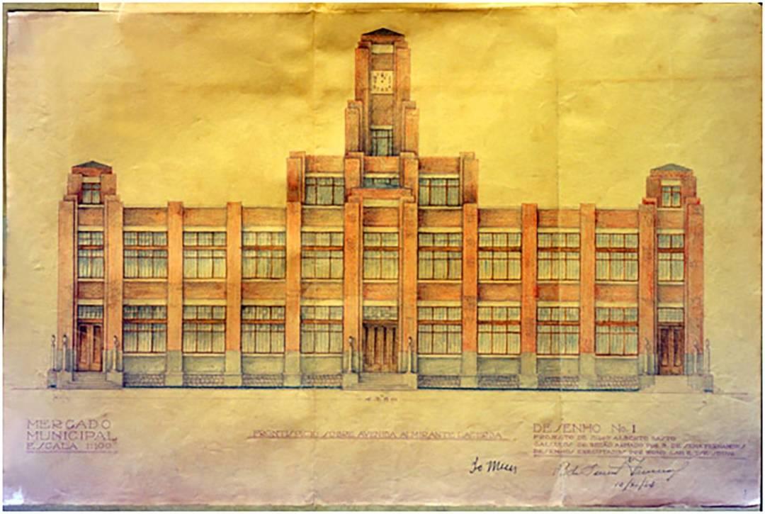 1934年11月10日紅街市正立面設計效果圖。