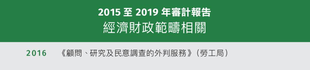 2015至2019年廉署調查(部分) 經濟財政範疇相關