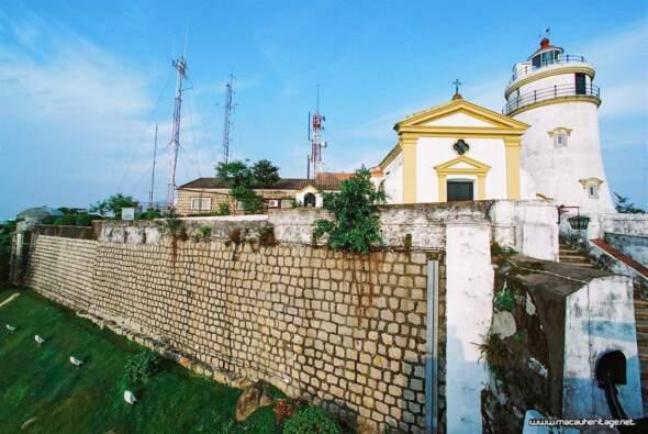 東望洋燈塔及炮台。