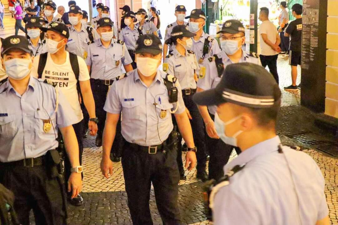 今年「六四」,即使沒有集會,警方仍派出多名警員在議事亭前地一帶巡邏。