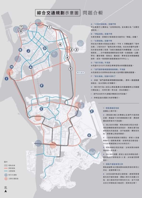 綜合交通規劃示意圖.問題合輯(論盡媒體製圖)