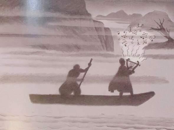勇闖地獄尋找妻子的詩人,奧菲斯乘船度過冥河(伊萬・波墨,廣西師範大學出版社)。