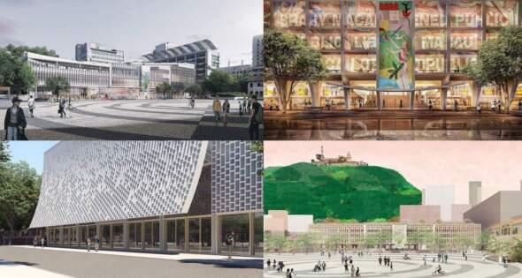 特區政府早前向國內外十多個獲國際性建築設計大獎、且曾設計傑出圖書館或類似文化設施的建築設計團隊瞭解,並邀請其中四個有意願參與項目的團隊提供概念設計方案。圖片來源:文化局