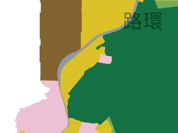 疊石塘山山腰地段被劃為居住區(黃色)。 圖片來源:總規諮詢文本