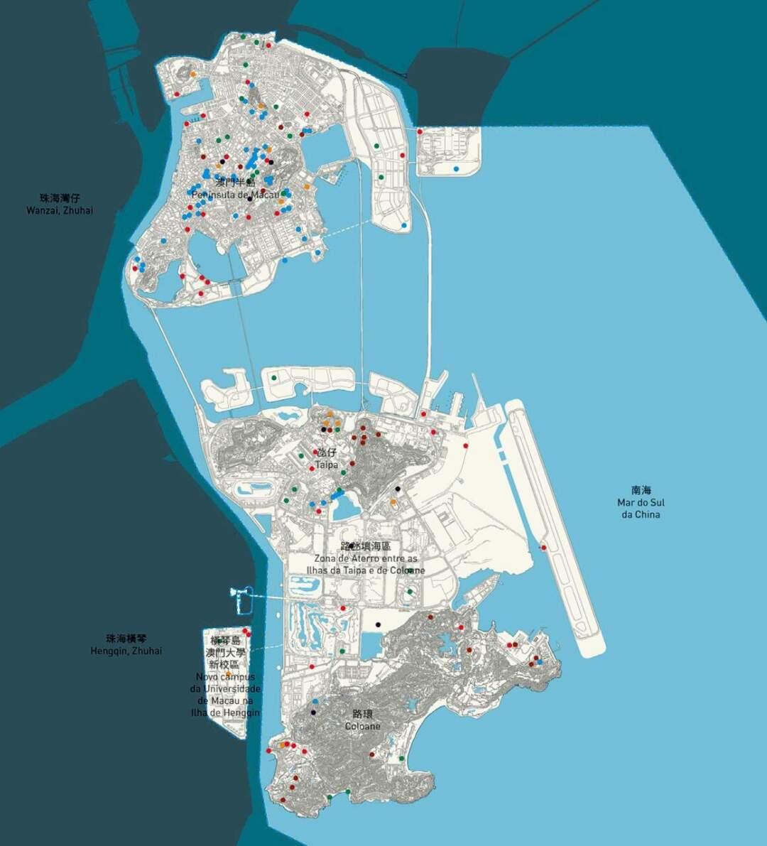 現時每區各項公共設施分佈顯然並不平均。圖片來源:總規諮詢文本