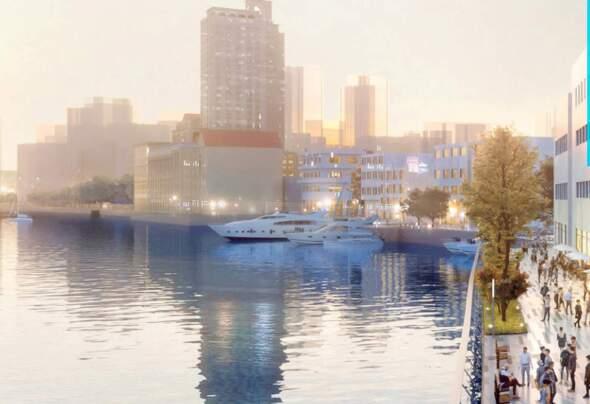規劃中沙梨頭的商業街。
