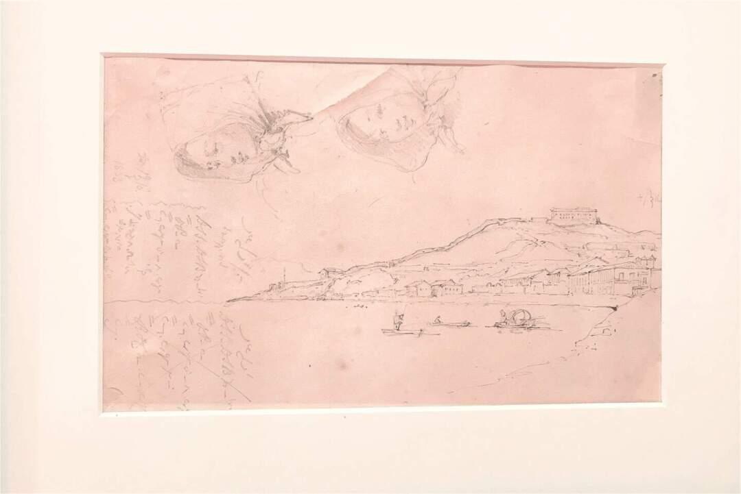 錢納利有時會於同一張紙上畫上不同草稿,故繪畫的方向及主題不一。